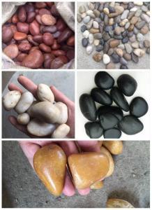 China Polished White Pebble Stones,White Cobble Stones,White River Stones,Cobble River Pebbles,Landscaping Pebbles on sale