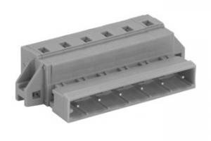China Gray Male MCS Feed-Through Plug Connector PCB Terminal Block PA66 SP475 SP478 on sale
