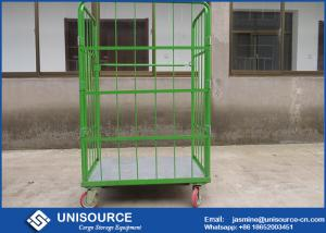 China Roll Cage Container With Foldable Steel Basket , Medium Duty Wire Mesh Container on sale