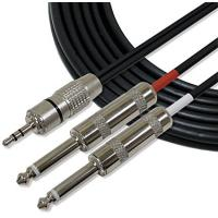 """Full Metal 1/8"""" TRS Stereo Audio Link Cable 3.5mm to 6mm Cords for iPhone / iPod"""