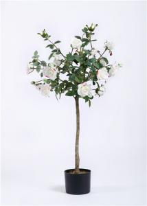 China Rosa Artificial Flower Tree , Artificial Flower Plants Indoor Decor Eco Friendly on sale
