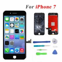 """Black Color Iphone LCD Touch Screen , 4.7"""" Iphone 7 LCD Touch Screen"""