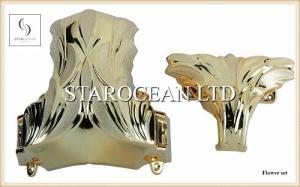 China ABS Plastic Coffins And Caskets Accessories , Coffin Ornaments Corner Beautiful Pattern on sale