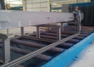 China Máquina del arenador del tiro de la banda transportadora, equipo industrial del chorreo con granalla para I - estructura del haz on sale