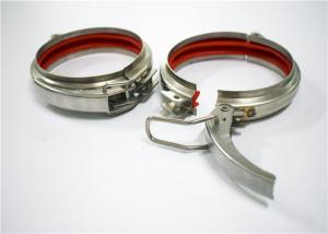 China Hop Dip Quick Release Pipe Clamp Galanized Pressed Tight For Industry Seamless on sale