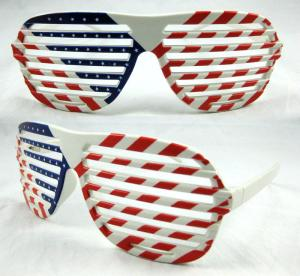 China Fashion design Plastic Country Celebrate Party Funny Glasses on sale