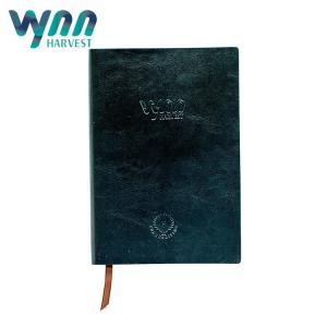 China PU Leather Paper Custom Hardcover Notebook Black / Ivory White Color 256 Pages on sale