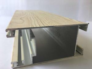 China Quality Light  Wood Finish Aluminium Profiles Extruded Aluminum Tube For Window And Door Frame on sale