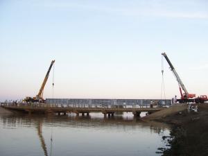 China Prefabricated Steel Girder Bridge Concrete Deck For Temporary on sale