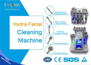 China Facial Therapy Hydrotherapy Facial Machine 70cm Vacuum Suction With Ultrasound Handle on sale