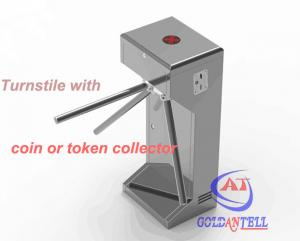 China Half Height Coin or Token Operated turnstile entrance gates for Swimming Pool Entrance on sale
