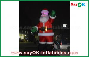 China Inflatable Inflatable Air Dancer Festeval Decoration Santa Claus Red Color For Event on sale
