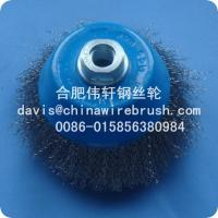 "4"" Crimped Wire Cup Brushes---5/8""-11 Nut"