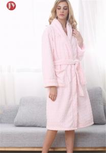 China Plus Size Women'S Plush Robe , House Extra Long Nightgowns Warm Embossed Fleece Fluffy on sale