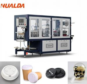 China Automatic Disposable Plastic Lid Forming Machine 0.1 To 1.5 Mm Sheet Thickness on sale
