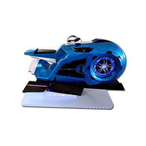 China 9D VR Simulator Games Machine Red/ Blue VR Motorbike Simulator With 4 Games on sale