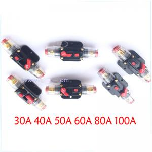 Car Audio 30 to 100 Amp Circuit Breaker Manual Reset Switch