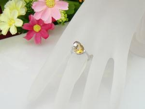 China 925 Solid Silver Fine Jewelry Bijoux Citrine Semi-Precious Stone Ring on sale