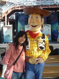 China adult disney character woody flush mascot costume of full body on sale