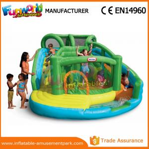 China Customized Interesting Mega Aqua Water Slide Large Inflatable Pool Slide on sale