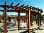 Esplanade Round Garden Pergola Kits Wood Plastic Composites Highly Resistant To Termites