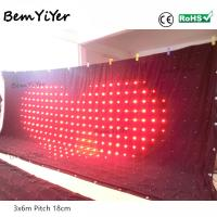 A3618/Pitch18cm  3X6M led video curtain/motion drape/cortina led/screen/panel/dmx512/remote/sd/dj backdrop/wedding drape