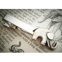 Custom Metal Tie Clip with Cute Animal Logo In Nickel / Silvery Plating