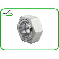 China ISO2853 Hygienic Stainless Steel Union Couplings Hexagon Nut Type 1 Inch-4 Inch Size on sale