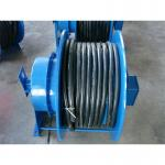 Grounding Retractable Wire Rope Reel , Commercial Hose Reel Heavy Duty