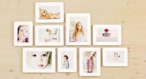 China Wall Decor Sandwich Picture Photo Frames Set 9 Piece / 3X5 4X6 5X7 on sale