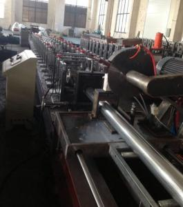 China 7.5KW Shutter Door Roll Forming Machine GCr15 Steel Roller Blind Tube Production Line on sale