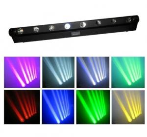 China 8 Eyes 10w Rgbw 4in1 Led Beam Moving Head Light /  Disco Lights Or For Stage Show on sale