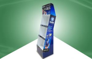 China Security Products POP Cardboard Display / Cardboard Floor Display With Three Shelf on sale