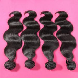 China Brazilian Hair Virgin Human Hair Weaves Extensions Peruvian Malaysian Indian Cambodian Virgin Hair Body Wave Bundles on sale