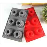 Spiral Grain Silicone Bread Baking Molds 6 Cavity For Baking Accessories