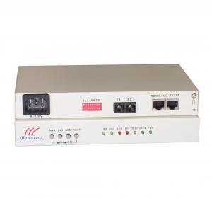 China dual fiber 20km RS422 Optical Fiber Modem RS422 over fiber optical modem on sale