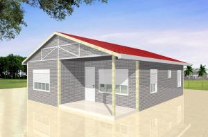 China Luxury Customized Light Steel villa Prefab Container Homes For Office , Sentry Box on sale