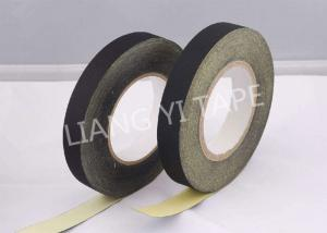 China Black / White Adhesive Cloth Tape , 105°C 0.18mm Heat Resistant Insulation Tape on sale