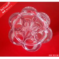 Durable Clear Acrylic Makeup Organizer , Customized Cosmetic Storage Box