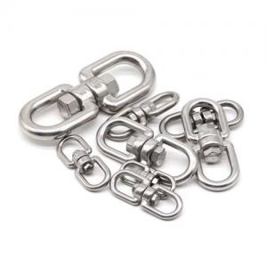 China Heavy Duty Rope Hardware Accessories Double Eye Swivel Rings Wire Rope Accessory on sale