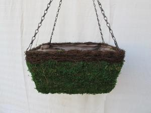 China 14`MOSS HANGING BASKET FOR GARGENING,HOME DECO.Spaniel Hanging Basket Garden on sale