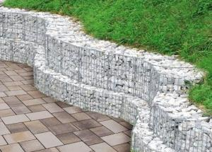 China High Durable Gabion Wire Mesh , Gabion Wall Construction 200x100x50cm Size on sale
