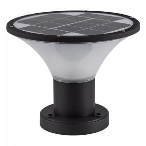 China Modern Led Solar Powered Pillar Light Gate Post Cap , Black and white Solar Light on sale
