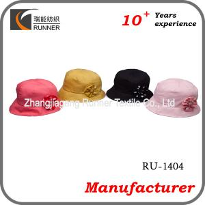 China Ladies fashion hats with flower decoration on sale