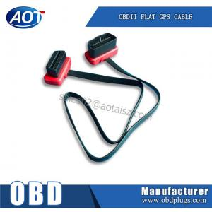 China 16pin OBD2 male to female extension cable for GPS obdii right angle cable on sale