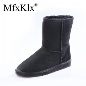 China 5825 classic sheepskin snow boot, winter boots, ackcle boots, shoes, women shoe, lady shoes black color on sale