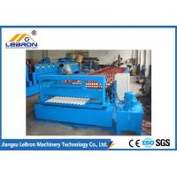 China Blue Color Corrugated Sheet Roller Customized Profile Long Service Time on sale