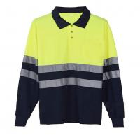 Long sleeve Reflective Safety Hi Vis Polo Shirt OEM breathable quick dry work wear unisex heat sublimation printed