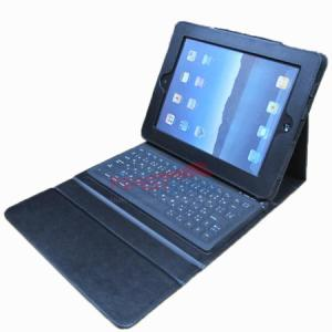 China FS00080 Leather Case with Built-in Bluetooth Keyboard for iPad/iPad2 on sale