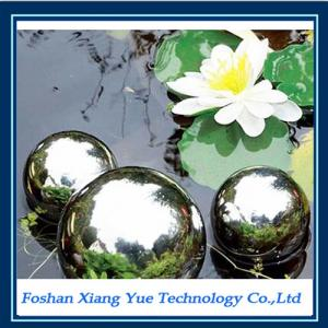 China garden stainless steel gazing hollow ball/ metal globe water feature on sale
